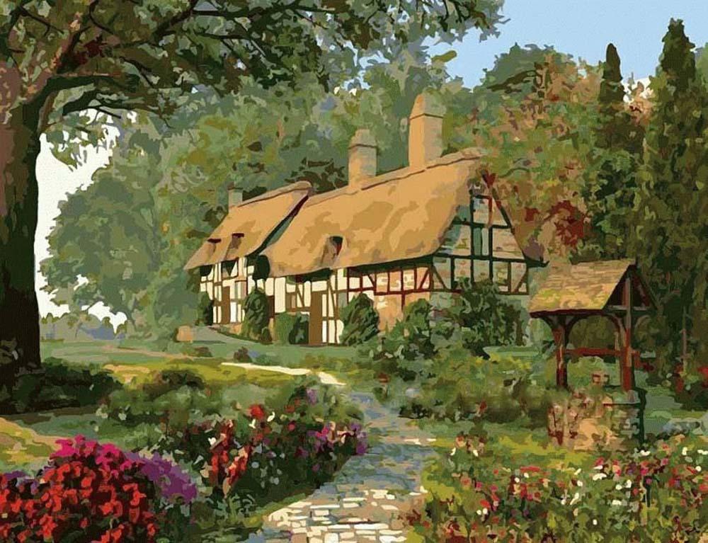 «Фазенда» Доминика ДэвисонаЦветной (Premium)<br>Летний, солнечный пейзаж станет украшением любой из комнат дома. Такая картина также подойдет и для детского сада, и для кабинета врача. Те, кто мечтает о большой и дружной семье или собственном загородном доме могут использовать этот сюжет и для визуализ...<br><br>Артикул: MMC078_Z<br>Основа: Холст<br>Сложность: средние<br>Размер: 50x65 см<br>Количество цветов: 25<br>Техника рисования: Без смешивания красок