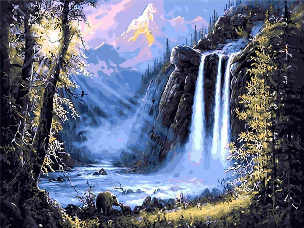 Картина по номерам «Медведи у водопада» Джесси БарнсаРаскраски по номерам Paintboy (Original)<br><br><br>Артикул: GX8352_R<br>Основа: Холст<br>Сложность: средние<br>Размер: 40x50 см<br>Количество цветов: 27<br>Техника рисования: Без смешивания красок