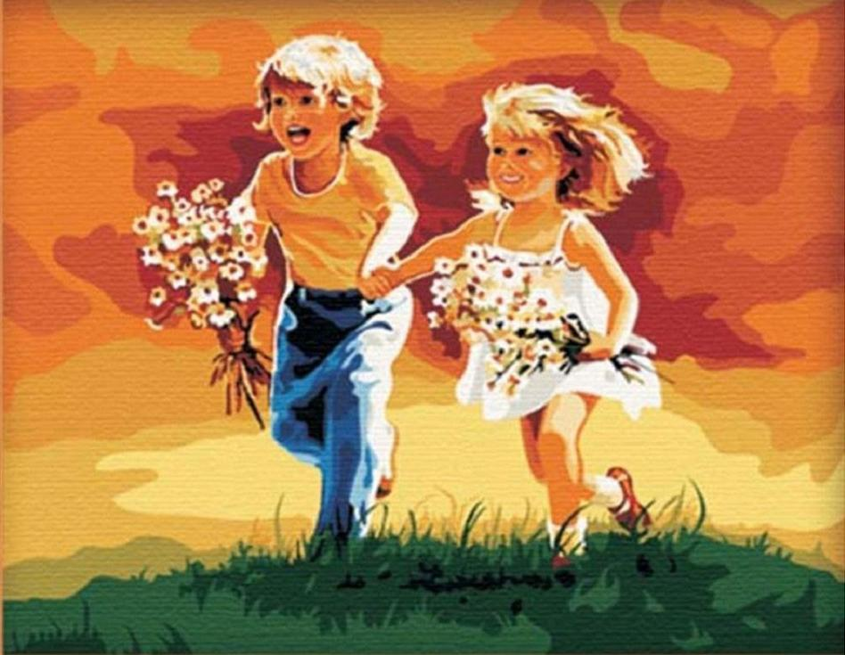 «Побежали» Дональда ЗоланаMenglei (Premium)<br><br><br>Артикул: MG020<br>Основа: Холст<br>Сложность: сложные<br>Размер: 40x50 см<br>Количество цветов: 27<br>Техника рисования: Без смешивания красок