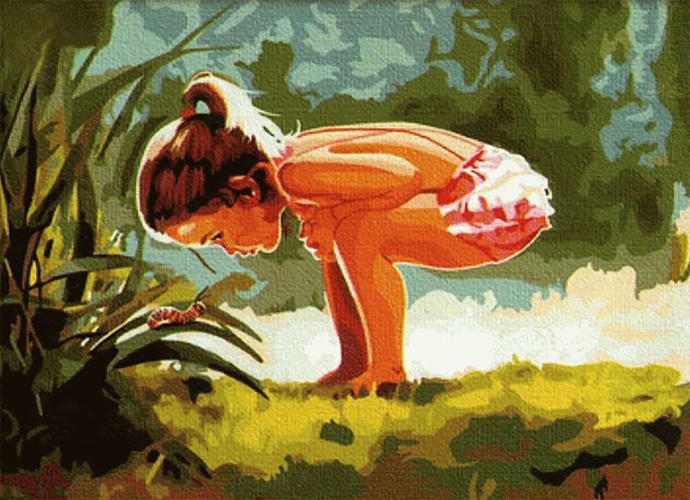 «Детское любопытство» Дональда ЗоланаMenglei (Premium)<br>Наивная детская непосредственность и любознательность всегда вызывают трогательные чувства. К сожалению, часто не успеваешь запечатлевать такие важные чудесные мгновения, когда малыш с искренним интересом знакомится с окружающим миром. А вот Дональд Золан...<br><br>Артикул: MG066<br>Основа: Холст<br>Сложность: сложные<br>Размер: 40x50 см<br>Количество цветов: 29<br>Техника рисования: Без смешивания красок