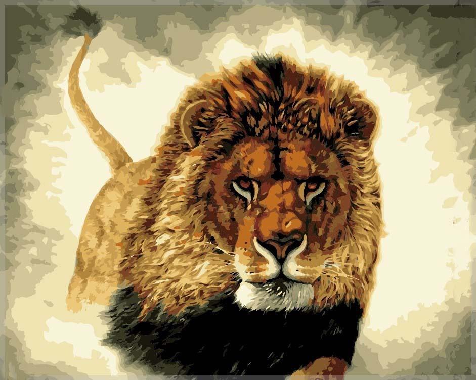 Картина по номерам «Сила»Menglei (Premium)<br>Картина по номерам с изображением льва обладает невероятной силой воздействия. Властный и царственный, уверенный и умный царь зверей точно знает, за кем должно оставаться последнее слово. Золотисто-коричневая окраска льва также ассоциируется с Солнцем, вп...<br><br>Артикул: MG311<br>Основа: Холст<br>Сложность: сложные<br>Размер: 40x50 см<br>Количество цветов: 24<br>Техника рисования: Без смешивания красок