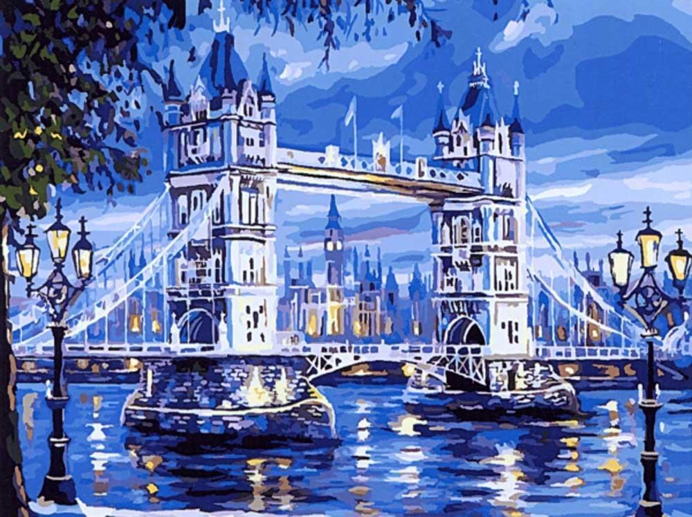 Картина по номерам «Лондонский мост» Роберта ФайнэлаPaintboy (Premium)<br><br><br>Артикул: GX7336<br>Основа: Холст<br>Сложность: средние<br>Размер: 40x50 см<br>Количество цветов: 23<br>Техника рисования: Без смешивания красок