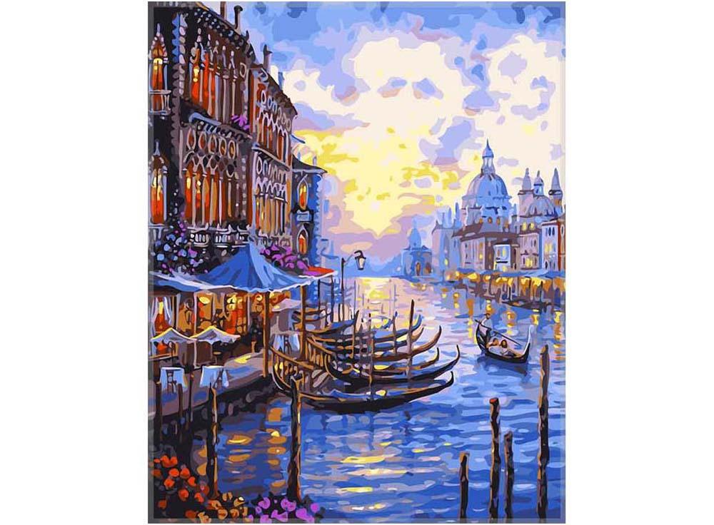 «Гранд-канал в Венеции» Роберта ФайнэлаPaintboy (Premium)<br><br><br>Артикул: GX7191<br>Основа: Холст<br>Сложность: средние<br>Размер: 40x50 см<br>Количество цветов: 25<br>Техника рисования: Без смешивания красок