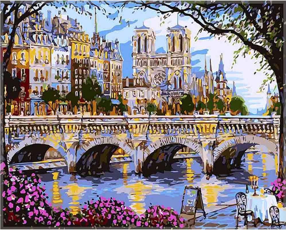 «Вечер на берегу реки Сены» Роберта ФайнэлаPaintboy (Premium)<br><br><br>Артикул: GX7192<br>Основа: Холст<br>Сложность: средние<br>Размер: 40x50 см<br>Количество цветов: 25<br>Техника рисования: Без смешивания красок
