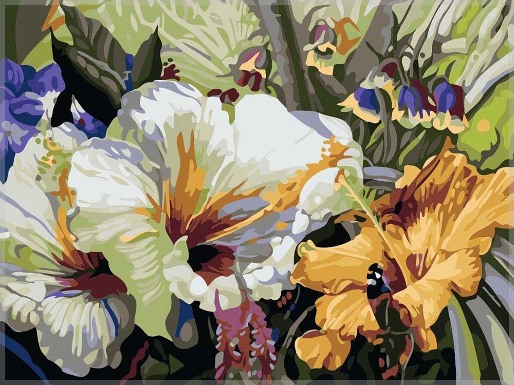 «Цветок с метельком» Ирины КарпикиотиРаскраски по номерам Paintboy (Original)<br><br><br>Артикул: GX7281_R<br>Основа: Холст<br>Сложность: средние<br>Размер: 40x50 см<br>Количество цветов: 25<br>Техника рисования: Без смешивания красок