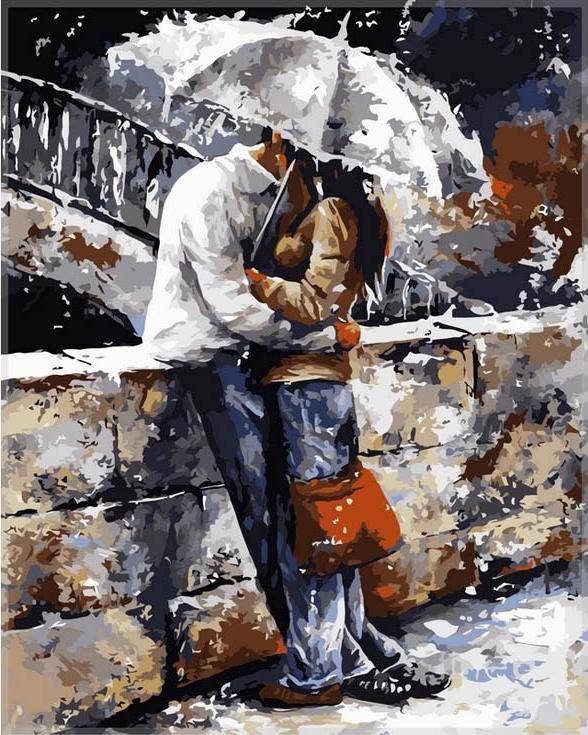 Картина по номерам «Романтическая прогулка под дождем» Эмерико Тота