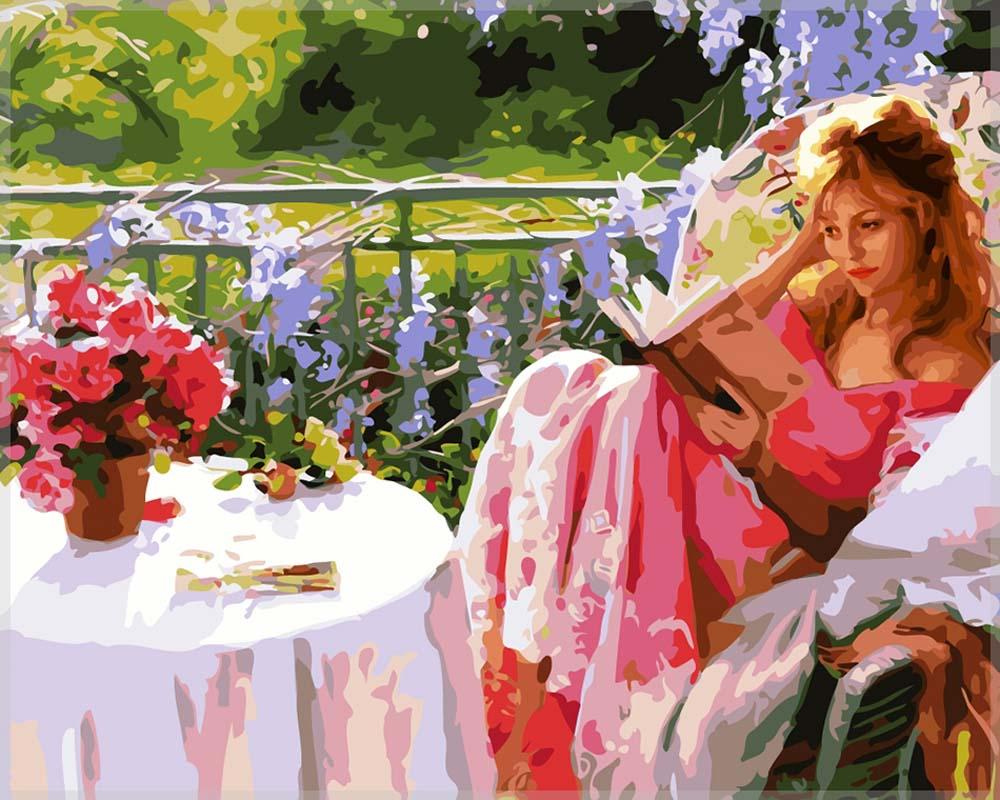 Картина по номерам «Девушка с книгой» Висенте Ромеро РедондоРаскраски по номерам Color Kit<br><br><br>Артикул: CG807<br>Основа: Холст<br>Сложность: средние<br>Размер: 40x50 см<br>Количество цветов: 26<br>Техника рисования: Без смешивания красок