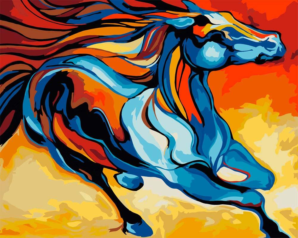 """Картина по номерам «Сказочная лошадь» Марсии БолдуинАртвентура<br>Картины по номерам """"Артвентура"""" - это высокое качество составляющих.<br>Отличие наборов этого бренда от других производителей заключается в том, что:<br>- Каждая схема разработана с ювелирной точностью.<br>- Для удобства каждый сектор схемы окрашен в тональность н...<br><br>Артикул: 02ART30400021<br>Основа: Картон<br>Сложность: средние<br>Размер: 30x40 см<br>Количество цветов: 23<br>Техника рисования: Без смешивания красок"""