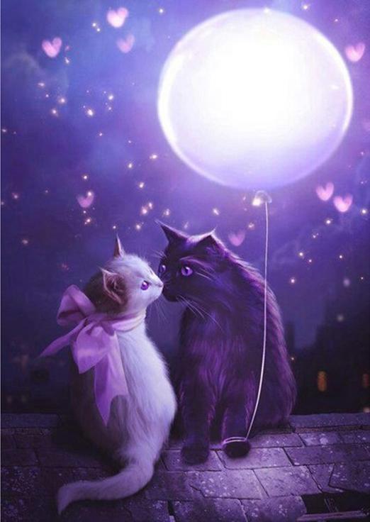 Алмазная вышивка «Мартовские коты»Алмазная вышивка Гранни<br><br><br>Артикул: AG458<br>Основа: Холст без подрамника<br>Сложность: средние<br>Размер: 27x38 см<br>Выкладка: Полная<br>Количество цветов: 20<br>Тип страз: Квадратные