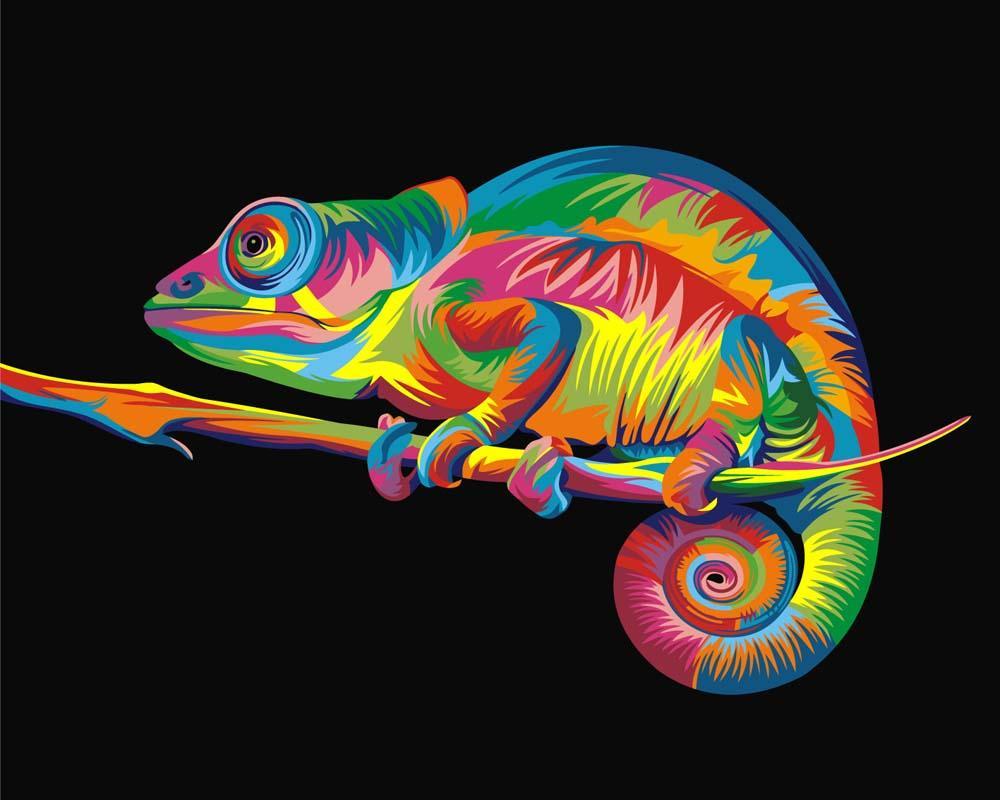 Картина по номерам Артвентура «Радужный хамелеон» Ваю Ромдони 02ART40500004