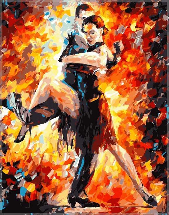 «Радость танго»Paintboy (Premium)<br><br><br>Артикул: GX6384<br>Основа: Холст<br>Сложность: сложные<br>Размер: 40x50 см<br>Количество цветов: 25<br>Техника рисования: Без смешивания красок