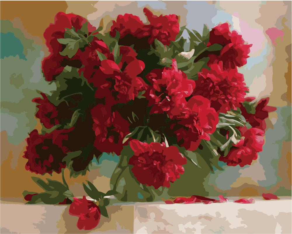 Картина по номерам «Алые пионы»Раскраски по номерам Paintboy (Original)<br><br><br>Артикул: GX7527_R<br>Основа: Холст<br>Сложность: средние<br>Размер: 40x50 см<br>Количество цветов: 24<br>Техника рисования: Без смешивания красок
