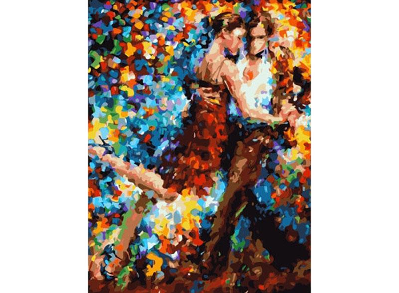Картина по номерам «Эмоциональное танго» Леонида АфремоваЦветной (Standart)<br><br><br>Артикул: GX7830_Z<br>Основа: Холст<br>Сложность: сложные<br>Размер: 40x50 см<br>Количество цветов: 25<br>Техника рисования: Без смешивания красок