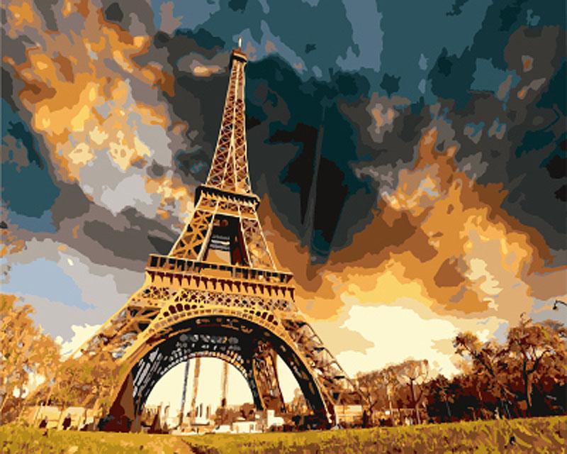 «Парижские сумерки»Цветной (Standart)<br><br><br>Артикул: GX7914_Z<br>Основа: Холст<br>Сложность: сложные<br>Размер: 40x50 см<br>Количество цветов: 25<br>Техника рисования: Без смешивания красок
