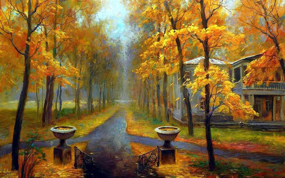 «Осенний пейзаж» Марии ГордеевойPaintboy (Premium)<br><br><br>Артикул: GX7936<br>Основа: Холст<br>Сложность: сложные<br>Размер: 40x50<br>Количество цветов: 25<br>Техника рисования: Без смешивания красок