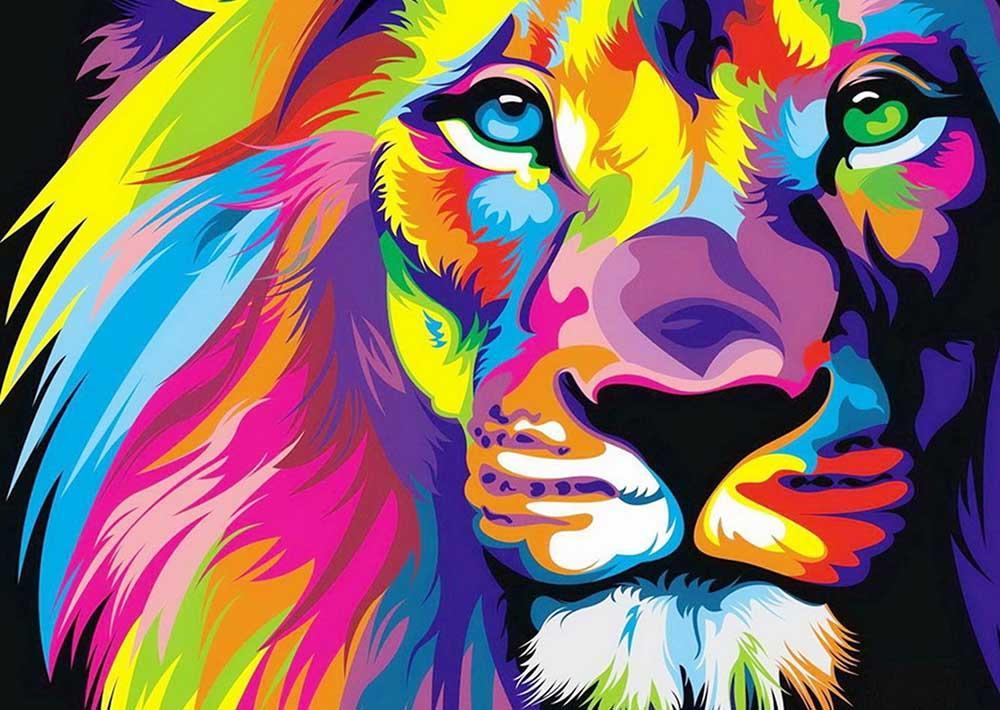 Алмазная вышивка «Радужный лев» Ваю РомдониАлмазная вышивка Гранни<br><br><br>Артикул: AG444<br>Основа: Холст без подрамника<br>Сложность: средние<br>Размер: 38x27 см<br>Выкладка: Полная<br>Количество цветов: 8-15<br>Тип страз: Квадратные