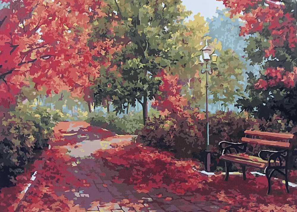 «Осенняя палитра» Марины ГордеевойЦветной (Standart)<br><br><br>Артикул: GX7837_Z<br>Основа: Холст<br>Сложность: сложные<br>Размер: 40x50 см<br>Количество цветов: 25<br>Техника рисования: Без смешивания красок