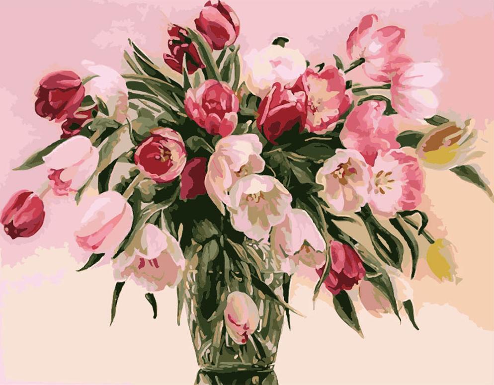 «Тюльпаны» Татьяны ЧачевойMenglei (Premium)<br><br><br>Артикул: MG1072<br>Основа: Холст<br>Сложность: средние<br>Размер: 40x50 см<br>Количество цветов: 20<br>Техника рисования: Без смешивания красок