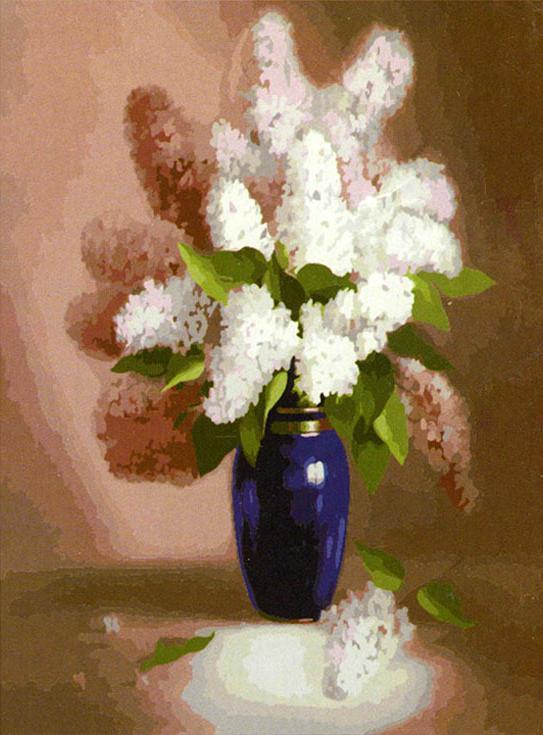 Картина по номерам «Сирень» Алексея СусолаMenglei (Premium)<br><br><br>Артикул: MG303<br>Основа: Холст<br>Сложность: сложные<br>Размер: 40x50 см<br>Количество цветов: 28<br>Техника рисования: Без смешивания красок