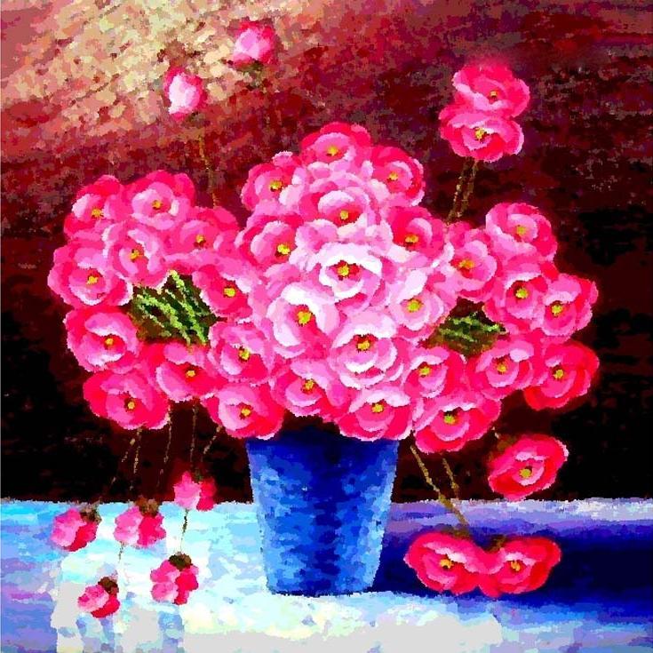 «Миллион алых роз»Menglei (Premium)<br><br><br>Артикул: MG316<br>Основа: Холст<br>Сложность: очень сложные<br>Размер: 40x50<br>Количество цветов: 37<br>Техника рисования: Без смешивания красок
