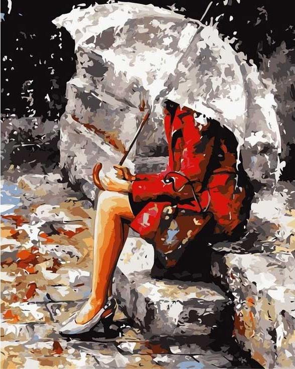 Картина по номерам «Мелодия дождя» Эмерико ТотаPaintboy (Premium)<br><br><br>Артикул: GX7548<br>Основа: Холст<br>Сложность: легкие<br>Размер: 40x50 см<br>Количество цветов: 19<br>Техника рисования: Без смешивания красок