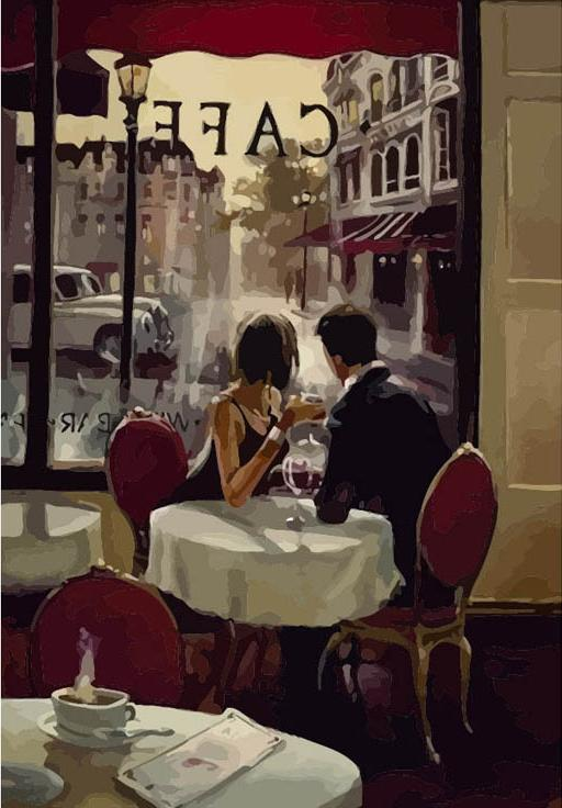 Картина по номерам «Романтический вечер» Брента ХейтонаPaintboy (Premium)<br><br><br>Артикул: Gx7568<br>Основа: Холст<br>Сложность: средние<br>Размер: 40x50 см<br>Количество цветов: 26<br>Техника рисования: Без смешивания красок