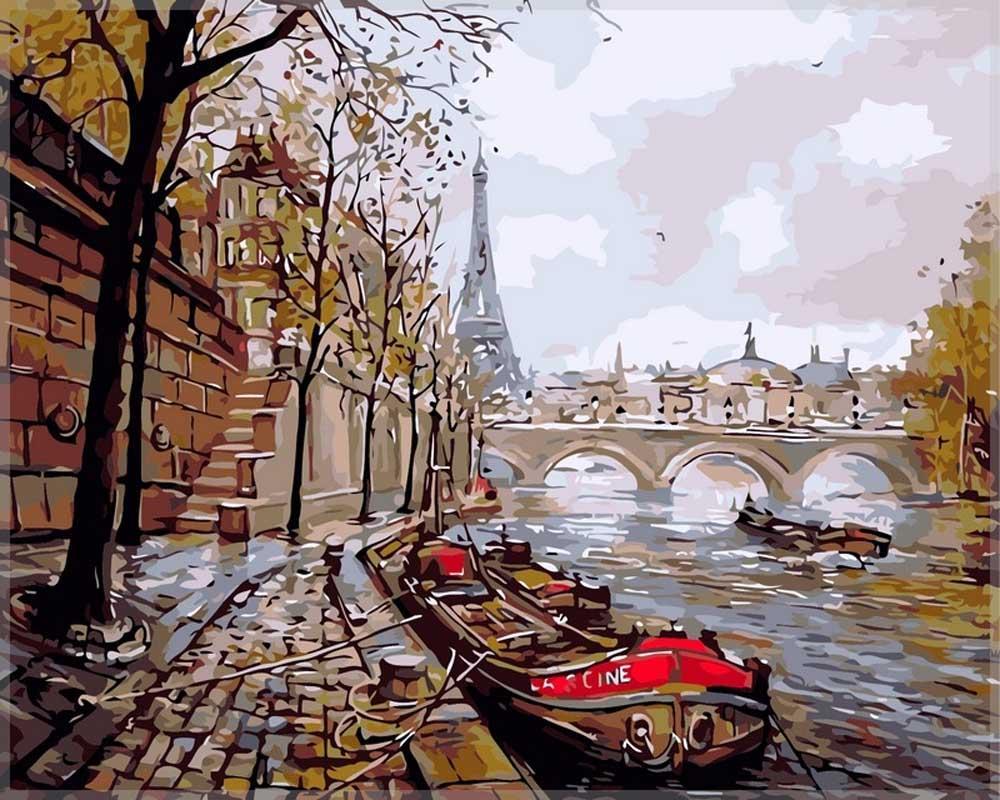 «Париж» Елены БартеневойPaintboy (Premium)<br><br><br>Артикул: GX7533<br>Основа: Холст<br>Сложность: сложные<br>Размер: 40x50 см<br>Количество цветов: 25<br>Техника рисовани: Без смешивани красок