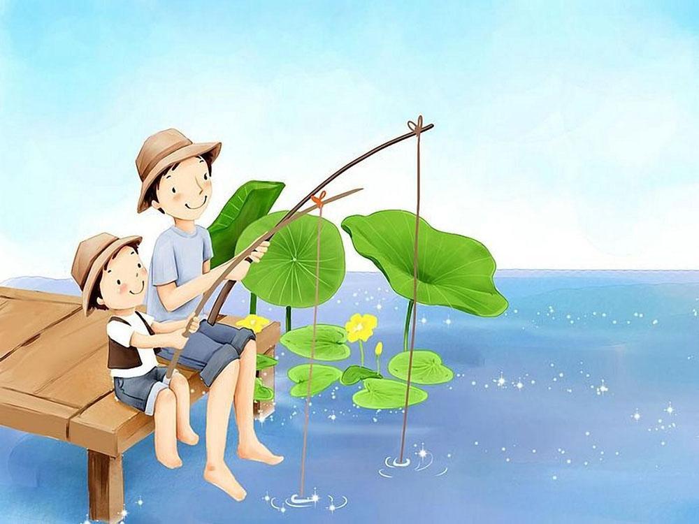 картинка папа на рыбалке