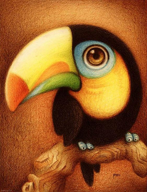 «Тукан» ФабоMenglei (Premium)<br><br><br>Артикул: ME086<br>Основа: Холст<br>Сложность: средние<br>Размер: 30x40 см<br>Количество цветов: 25<br>Техника рисования: Без смешивания красок