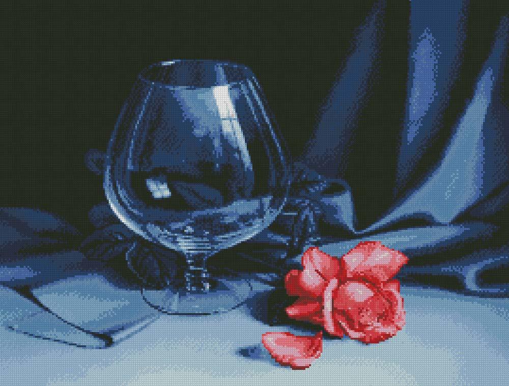 Алмазная вышивка «Бокал и Роза»Алмазная Живопись<br>Картины стразами бренда «Алмазная Живопись» это:<br><br>четко пропечатанная символьная схема;<br>качественный клеевой слой по всей поверхности холста;<br>большая палитра акриловых страз с 9 гранями, которые, отражая свет, создают эффект объемного изображения.<br>...<br><br>Артикул: SP-1050<br>Основа: Холст без подрамника<br>Сложность: средние<br>Размер: 68x52 см<br>Выкладка: Полная<br>Количество цветов: 24<br>Тип страз: Квадратные