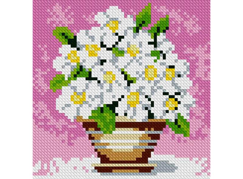 Алмазная вышивка Алмазная живопись Стразы «Полевые цветы» SP-1079