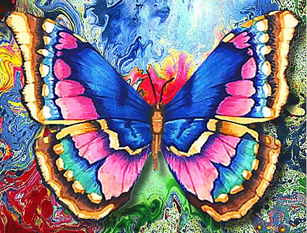 Алмазная вышивка Алмазная живопись Стразы «Рисунок бабочки» SP-1130