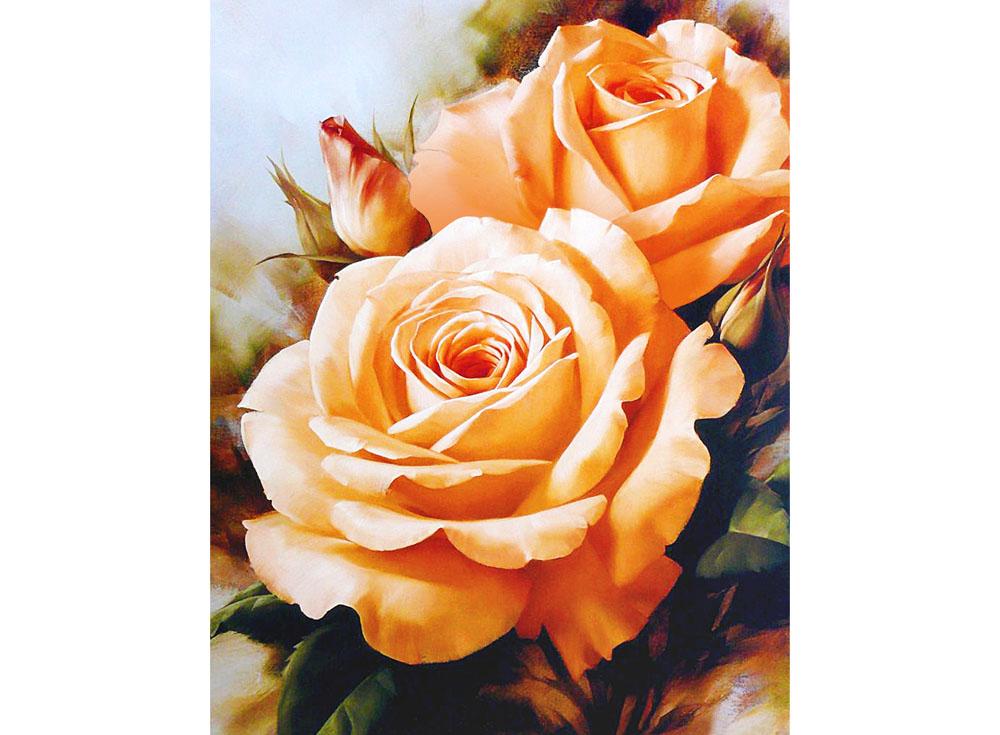 Алмазная вышивка Алмазная живопись Стразы «Чайные розы» SP-1132