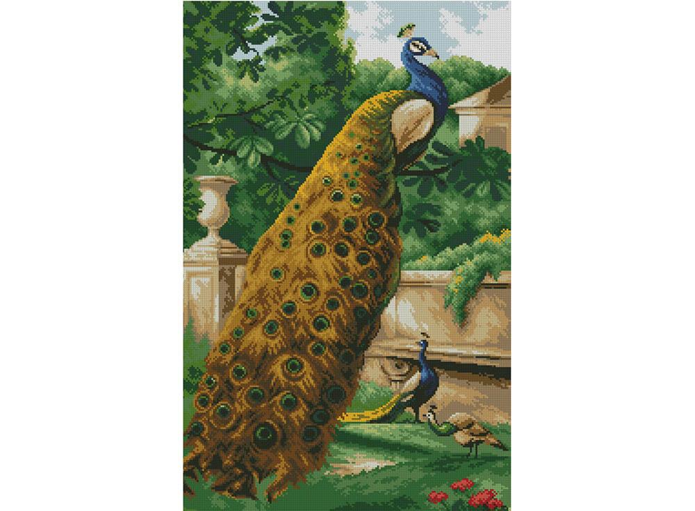 Алмазная вышивка Алмазная живопись Стразы «Павлины в саду» SP-1228