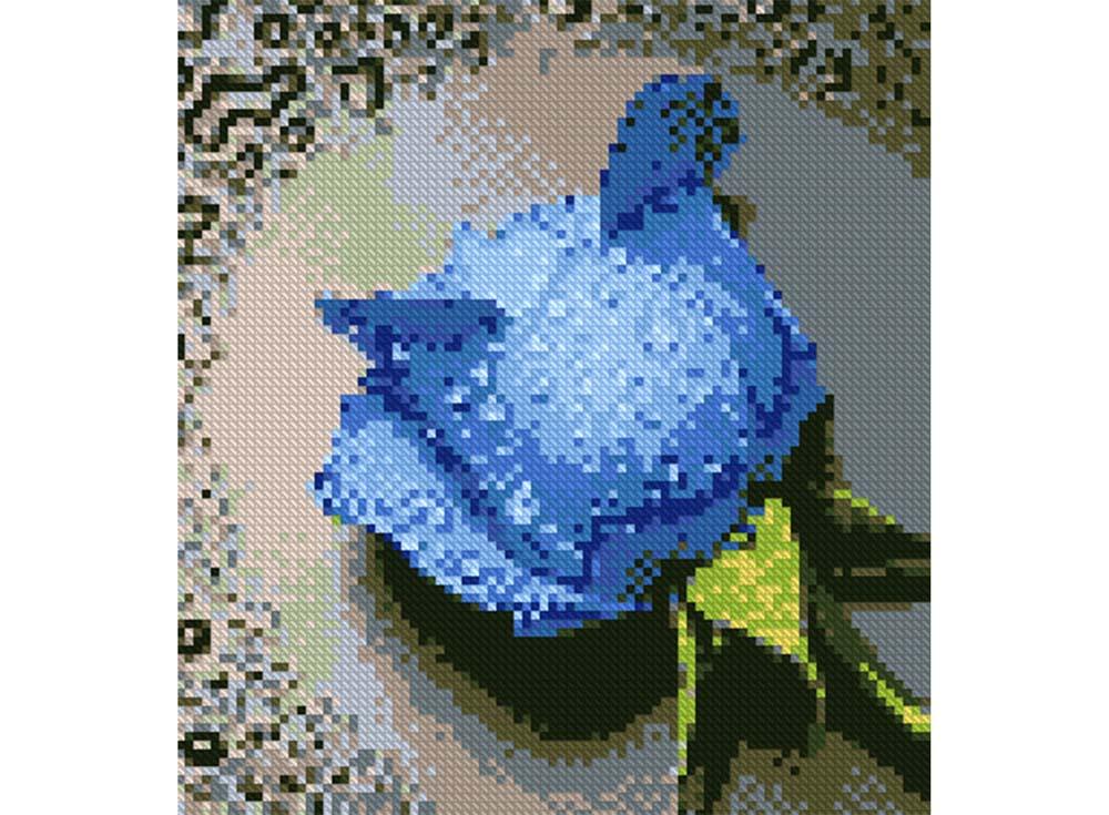 Алмазная вышивка «Синяя роза»Алмазная Живопись<br>Картины стразами бренда «Алмазная Живопись» это:<br><br>четко пропечатанная символьная схема;<br>качественный клеевой слой по всей поверхности холста;<br>большая палитра акриловых страз с 9 гранями, которые, отражая свет, создают эффект объемного изображения.<br>...<br><br>Артикул: SP-15<br>Основа: Холст без подрамника<br>Сложность: средние<br>Размер: 22x24 см<br>Выкладка: Полная<br>Количество цветов: 17<br>Тип страз: Квадратные