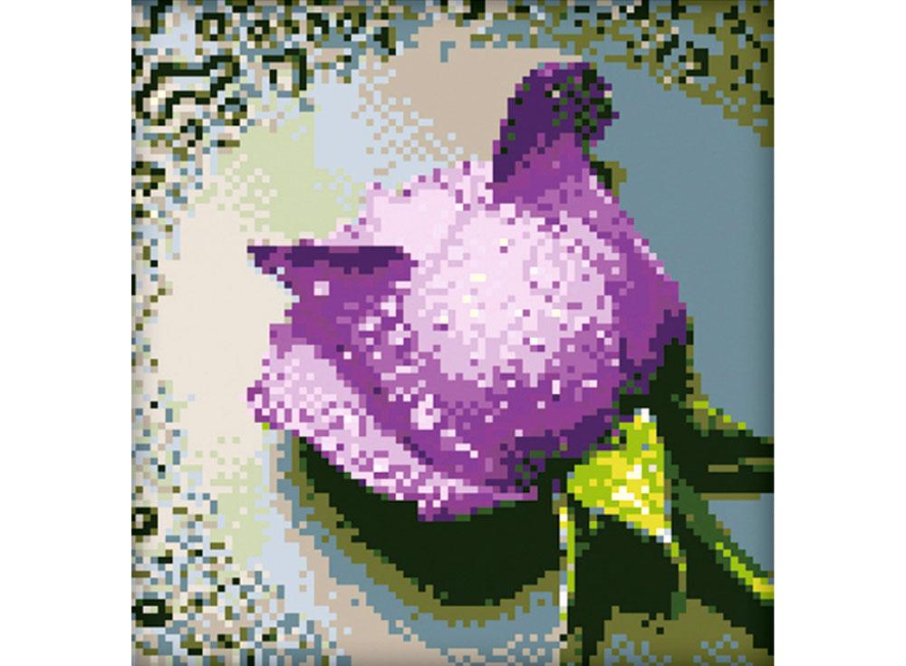 Стразы «Сиреневая роза»Алмазная Живопись<br>Картины стразами бренда «Алмазная Живопись» это:<br><br>четко пропечатанная символьная схема;<br>качественный клеевой слой по всей поверхности холста;<br>большая палитра акриловых страз с 9 гранями, которые, отражая свет, создают эффект объемного изображения.<br>...<br><br>Артикул: SP-16<br>Основа: Холст без подрамника<br>Сложность: средние<br>Размер: 22x25 см<br>Выкладка: Полная<br>Количество цветов: 7-15<br>Тип страз: Квадратные