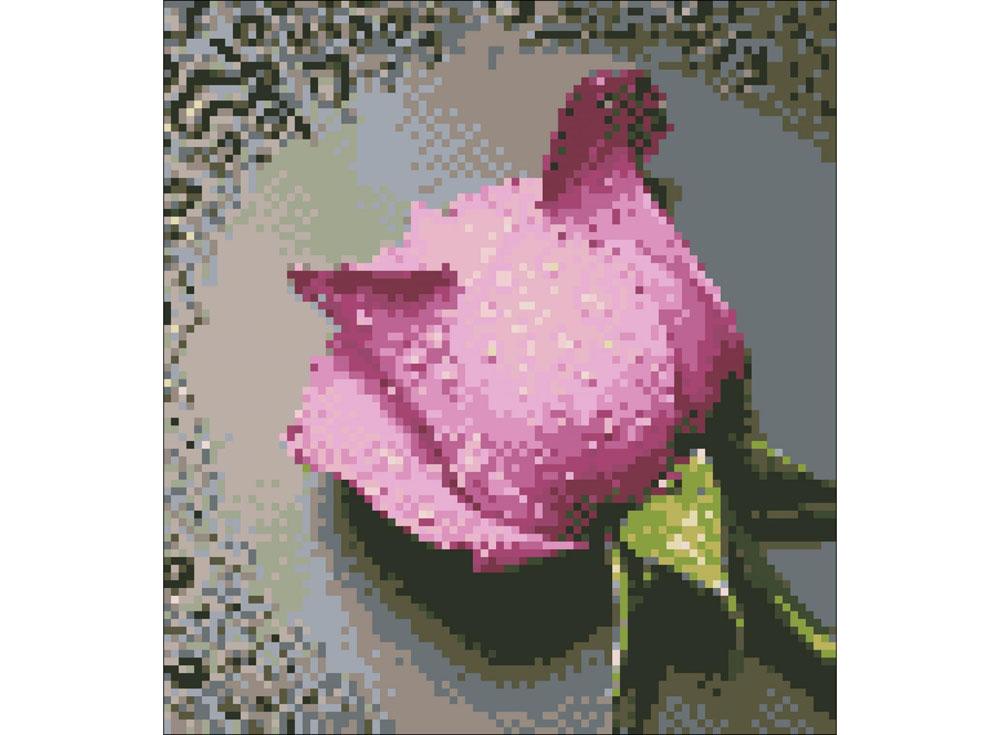 Алмазная вышивка «Розовая роза»Алмазная Живопись<br>Картины стразами бренда «Алмазная Живопись» это:<br><br>четко пропечатанная символьная схема;<br>качественный клеевой слой по всей поверхности холста;<br>большая палитра акриловых страз с 9 гранями, которые, отражая свет, создают эффект объемного изображения.<br>...<br><br>Артикул: SP-17<br>Основа: Холст без подрамника<br>Сложность: средние<br>Размер: 22x25 см<br>Выкладка: Полная<br>Количество цветов: 7-15<br>Тип страз: Квадратные