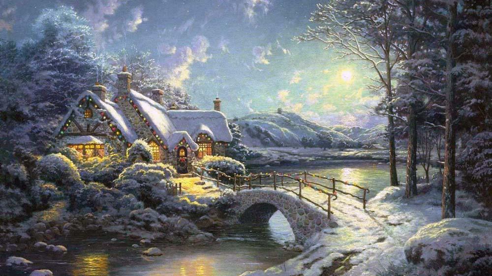 Стразы «Свет в Рождественскую ночь» Томаса КинкейдаАлмазная Живопись<br>Картины стразами бренда «Алмазная Живопись» это:<br><br>четко пропечатанная символьная схема;<br>качественный клеевой слой по всей поверхности холста;<br>большая палитра акриловых страз с 9 гранями, которые, отражая свет, создают эффект объемного изображения.<br>...<br><br>Артикул: SP-475<br>Основа: Холст без подрамника<br>Сложность: средние<br>Размер: 105x75 см<br>Выкладка: Полная<br>Количество цветов: 22<br>Тип страз: Квадратные