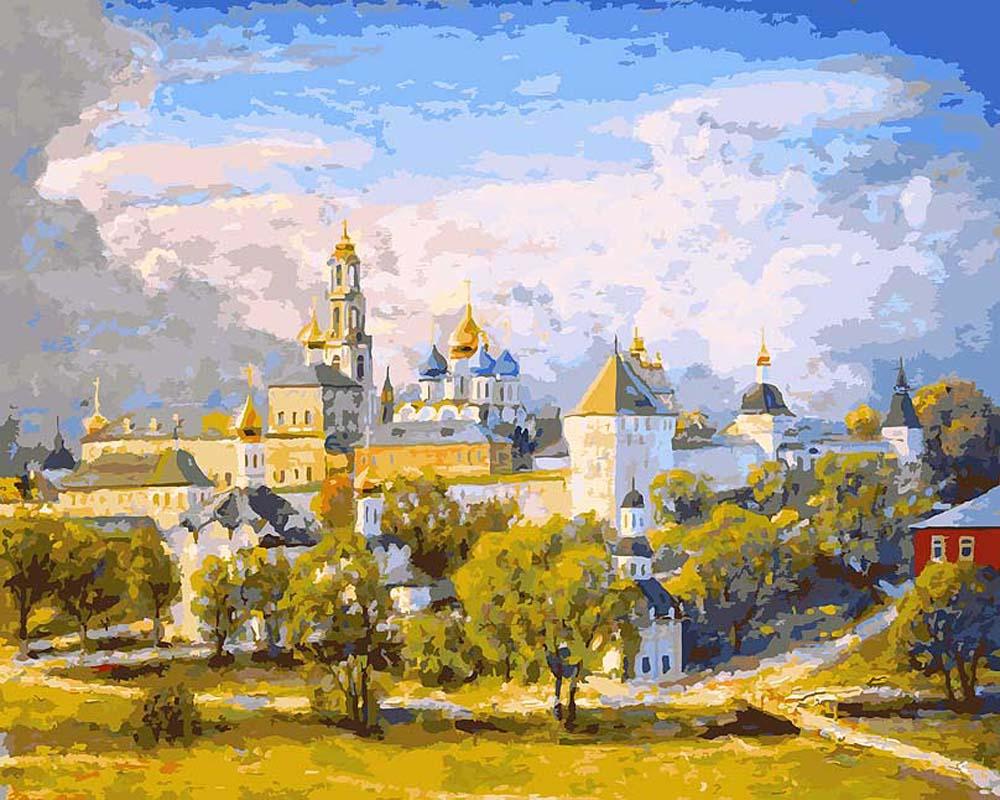 Картина по номерам Белоснежка «Сергиев Посад» Игоря Разживина 072-AB-C