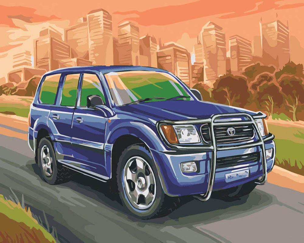 """«Toyota Land Cruiser»Картины по номерам Белоснежка<br>Наборы от производителя """"Белоснежка"""" имеют особенности, не позволяющие ошибиться в раскрашивании:<br> <br>  холст качественно размечен на сектора;<br>  чтобы легче было сориентироваться в том, какую краску нужно нанести на определенный участок, каждый сектор имее...<br><br>Артикул: 856-AB-C<br>Основа: Цветной холст<br>Сложность: средние<br>Размер: 40x50<br>Количество цветов: 30<br>Техника рисования: Без смешивания красок"""