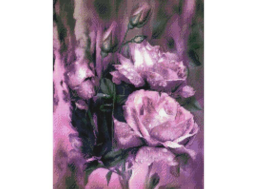 Стразы «Фиолетовые цветы»Anya<br><br><br>Артикул: 900901<br>Основа: Холст без подрамника<br>Сложность: средние<br>Размер: 40x50 см<br>Выкладка: Полна<br>Тип страз: Квадратные
