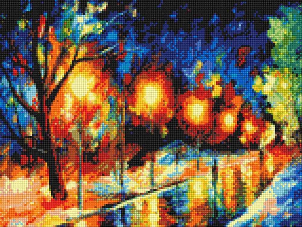 Стразы «Осенний парк» Леонида АфремоваAnya<br><br><br>Артикул: 902531<br>Основа: Холст без подрамника<br>Сложность: средние<br>Размер: 30x40 см<br>Выкладка: Полная<br>Тип страз: Квадратные