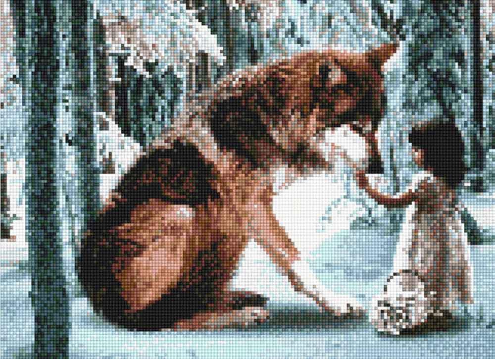 Алмазная вышивка «Девочка и волк»Алмазная вышивка<br><br>