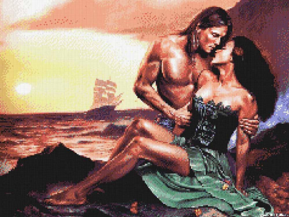 Стразы «Любовь»Anya<br><br><br>Артикул: 910933<br>Основа: Холст без подрамника<br>Сложность: средние<br>Размер: 40x60<br>Выкладка: Полная<br>Тип страз: Квадратные