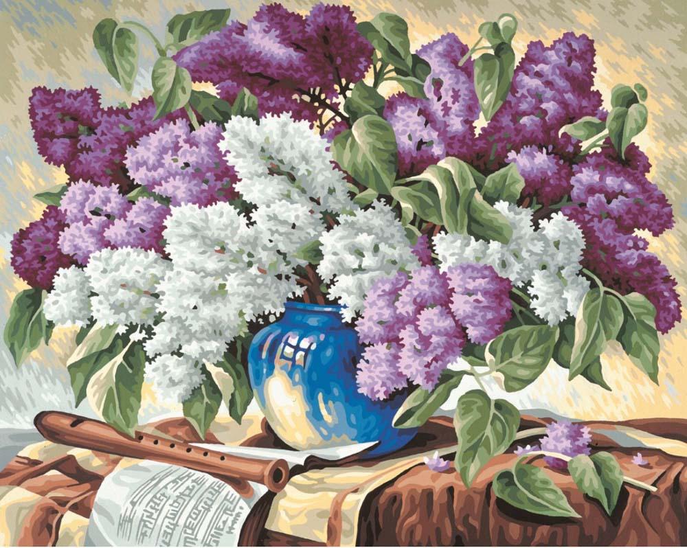 """Картина по номерам «Букет сирени»Schipper (Шиппер)<br>Производитель наборов картин по номерам """"Schipper"""" - это исключительное качество всех составляющих. Особенностью этого бренда является то, что основа картины - высококачественный картон, покрытие которого имитирует натуральный холст. Краски """"Schipper"""" обл...<br><br>Артикул: 9130324<br>Основа: Картон<br>Сложность: сложные<br>Размер: 40x50 см<br>Количество цветов: 30<br>Техника рисования: Без смешивания красок"""