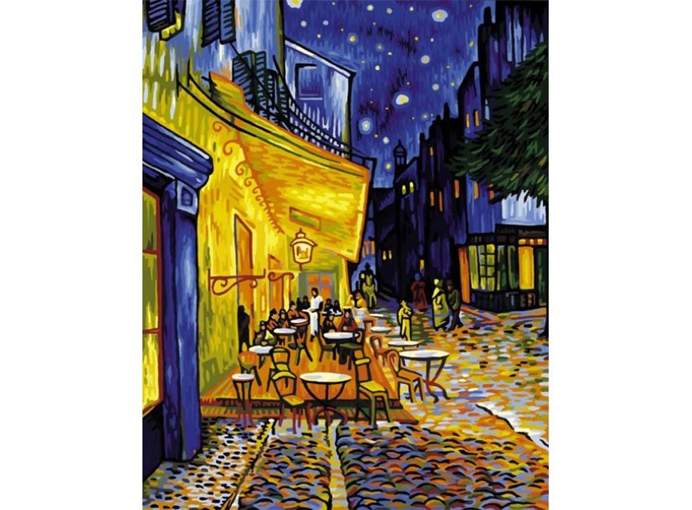 """Картина по номерам «Ночное кафе» Ван ГогаSchipper (Шиппер)<br>Производитель наборов картин по номерам """"Schipper"""" - это исключительное качество всех составляющих. Особенностью этого бренда является то, что основа картины - высококачественный картон, покрытие которого имитирует натуральный холст. Краски """"Schipper"""" обл...<br><br>Артикул: 9130359<br>Основа: Картон<br>Сложность: сложные<br>Размер: 40x50 см<br>Количество цветов: 24<br>Техника рисования: Без смешивания красок"""