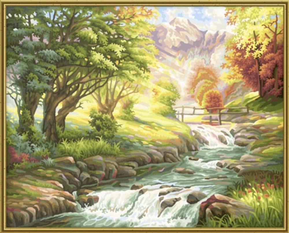 """«У водопада»Schipper (Шиппер)<br>Производитель наборов картин по номерам """"Schipper"""" - это исключительное качество всех составляющих. Особенностью этого бренда является то, что основа картины - высококачественный картон, покрытие которого имитирует натуральный холст. Краски """"Schipper"""" обл...<br><br>Артикул: 9130412<br>Основа: Картон<br>Сложность: сложные<br>Размер: 40x50 см<br>Количество цветов: 36<br>Техника рисования: Без смешивания красок"""