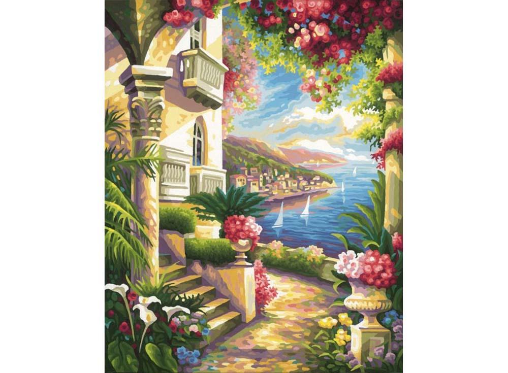 """«Дом у моря»Schipper (Шиппер)<br>Производитель наборов картин по номерам """"Schipper"""" - это исключительное качество всех составляющих. Особенностью этого бренда является то, что основа картины - высококачественный картон, покрытие которого имитирует натуральный холст. Краски """"Schipper"""" обл...<br><br>Артикул: 9130416<br>Основа: Картон<br>Сложность: сложные<br>Размер: 40x50 см<br>Количество цветов: 36<br>Техника рисования: Без смешивания красок"""