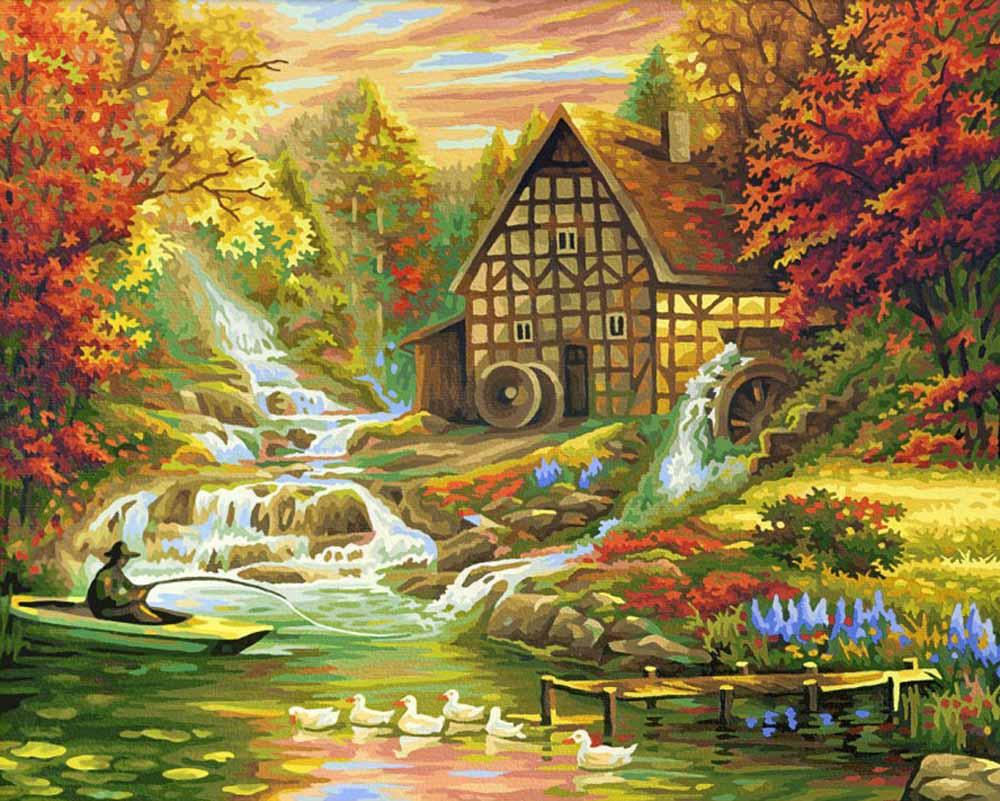 """«Осень»Schipper (Шиппер)<br>Производитель наборов картин по номерам """"Schipper"""" - это исключительное качество всех составляющих. Особенностью этого бренда является то, что основа картины - высококачественный картон, покрытие которого имитирует натуральный холст. Краски """"Schipper"""" обл...<br><br>Артикул: 9130507<br>Основа: Картон<br>Сложность: сложные<br>Размер: 40x50<br>Количество цветов: 36<br>Техника рисования: Без смешивания красок"""