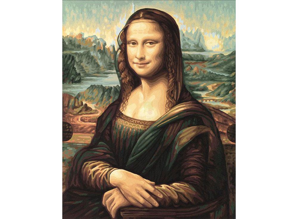 """Картина по номерам «Джоконда» Леонардо да ВинчиSchipper (Шиппер)<br>Производитель наборов картин по номерам """"Schipper"""" - это исключительное качество всех составляющих. Особенностью этого бренда является то, что основа картины - высококачественный картон, покрытие которого имитирует натуральный холст. Краски """"Schipper"""" обл...<br><br>Артикул: 9130511<br>Основа: Картон<br>Сложность: сложные<br>Размер: 40x50 см<br>Количество цветов: 30<br>Техника рисования: Без смешивания красок"""